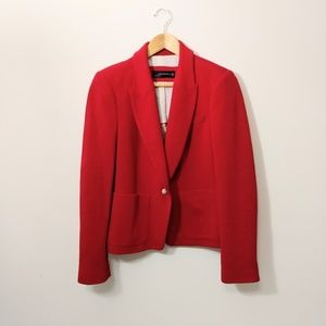 Zara woman red cotton blazer